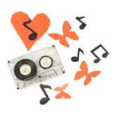 Oude cassette geïsoleerd op wit — Stockfoto