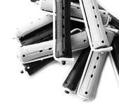 Lockenwickler isoliert auf weiss — Stockfoto