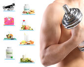 Sport and healthy life-style collage — Stock Photo