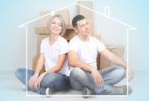 Home, real estate and family concept — Stock Photo