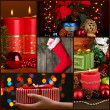 Collage of Christmas time and decorations — Stock Photo