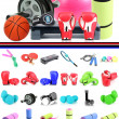 Stock Photo: Sports equipment collage