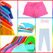 Stock Photo: Collage of sportswear