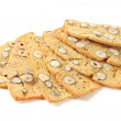 Stock Photo: Biscotti with nuts, isolated on white