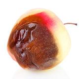 Rotten apple isolated on white — Stock Photo