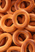 Tasty bagels, close up — Stock Photo