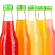 Bottles with tasty drinks, isolated on white — Stock Photo #31901239