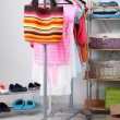 Women wardrobe close-up — Stock Photo