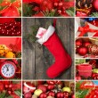 collage di tempo di Natale e decorazioni — Foto Stock