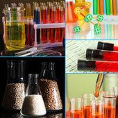 Laboratory Collage — Stock Photo