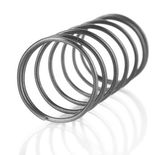 Coil spring isolated on white — Stock Photo