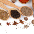 Various spices and herbs isolated on white — Stock Photo #32154361