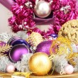 Christmas decorations close up — Foto de Stock