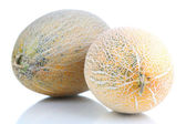 Ripe melons isolated on white — Stock Photo