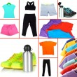 Collage of sportswear — Stock Photo #32213603