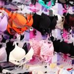 Shop woman underwear clothes — Stock Photo
