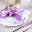 Table arrangement in restaurant — Stock Photo