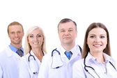 Medical workers isolated on white — Stock Photo