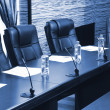 Постер, плакат: Meeting room in office center in shades of grey