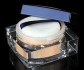 Beautiful make-up powder on black background — Stock Photo