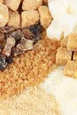 Verschiedene arten von zucker-nahaufnahme — Stockfoto