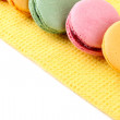 Stock Photo: Gentle macaroons close-up