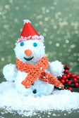 Beautiful snowman, on bright background — Stok fotoğraf