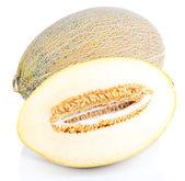 Ripe melon isolated on white — Stock Photo