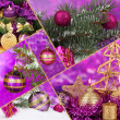 collage van kerstversiering — Stockfoto