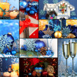 Collage of Christmas time and decorations — Stock Photo #32458509
