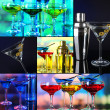 Stock Photo: Alcohol drinks collage