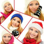 冬の服の美しい若い女性 — ストック写真