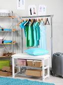 Women wardrobe in blue tones — Stock Photo