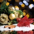 Stock Photo: Beautiful Christmas composition on table on bright background