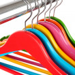 Colorful clothes hangers isolated on white — Stock Photo #32562055