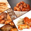 Assortment set of baked bread — Stock Photo
