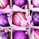 Beautiful packaged Christmas balls, close up — Stock Photo #32685543