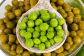 Green peas close-up — Stock Photo