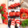 Collage of ripe  tomatoes — Stock Photo