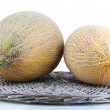 Stock Photo: Ripe melons isolated on white