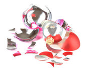Broken Christmas Toys isolated on white — Stock Photo