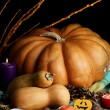 Composition for Halloween with pumpkins — Stock Photo #32780289