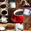 Collage of delicious coffee — Stock Photo #32848361