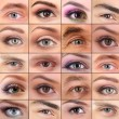 Collage of different people's eyes — Stock Photo