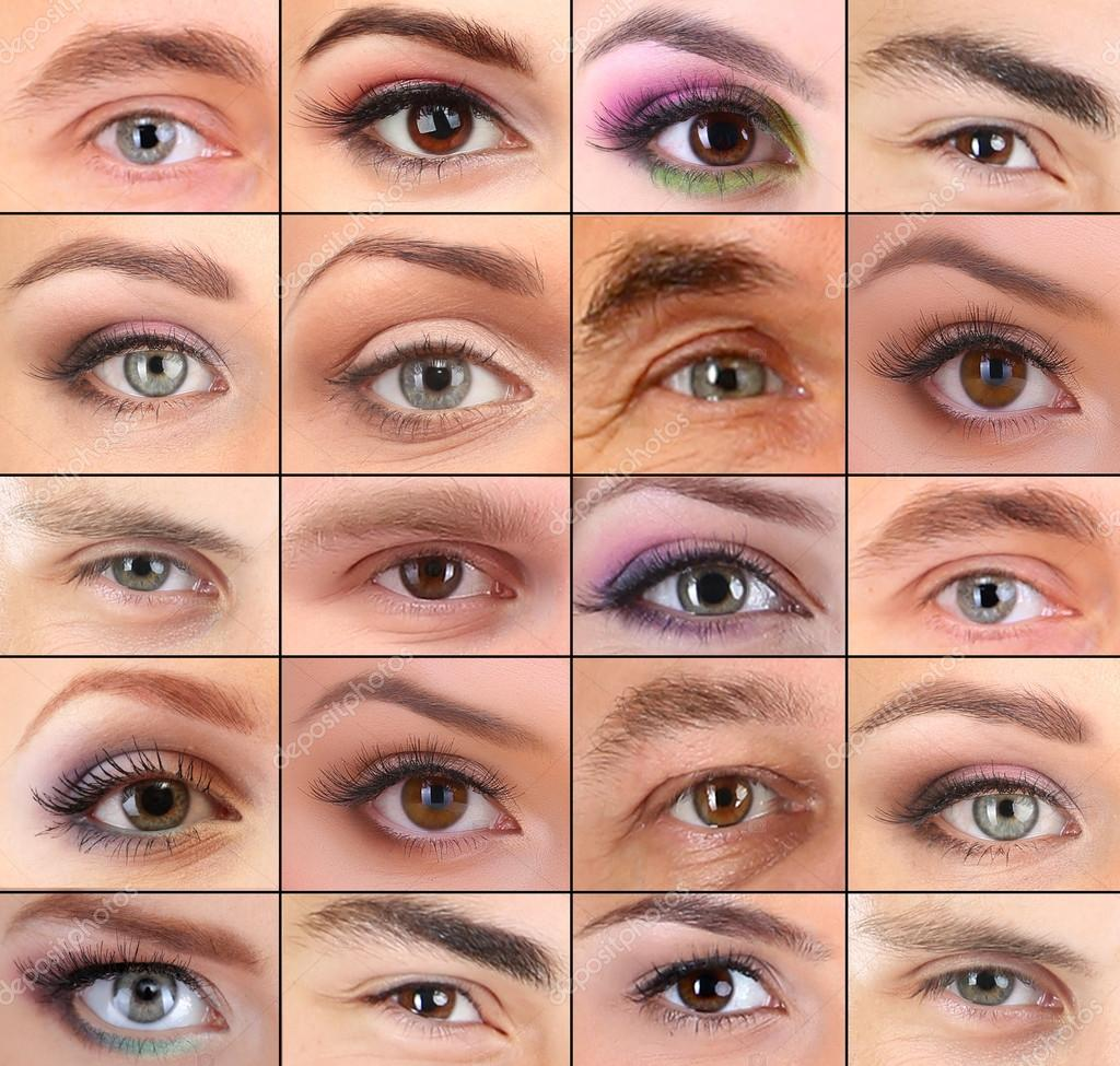 Collage Different Peoples Eyes