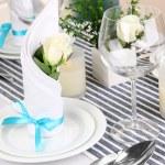 Table arrangement in restaurant — Stock Photo #32935975