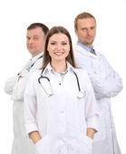 Personnel médical isolé sur blanc — Photo