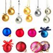 Set of Christmas balls isolated on white — Stock Photo