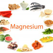 Products containing magnesium — Stock Photo