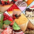 Collage of different tasty cupcakes — Stock Photo #32957605